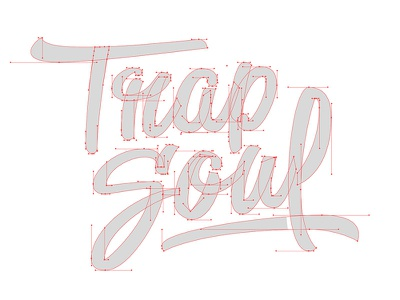 Trap Soul 2 script saturday sketch hand lettering type brush pen brush lettering