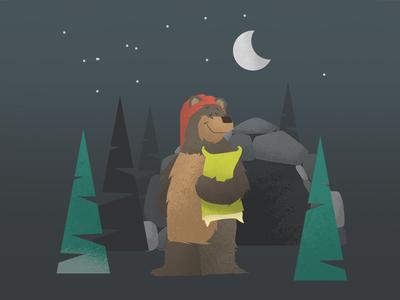 Just A Sleepy Bear texture kids books simple flat animals bear vector illustration