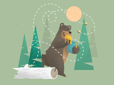 Just A Honey Bear vector texture simple kids illustration flat books bear animals