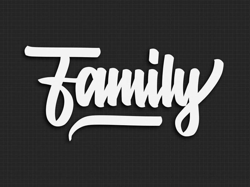 It's A Family Thing arnoletters procreate ipad pro typography script hand type family lettering