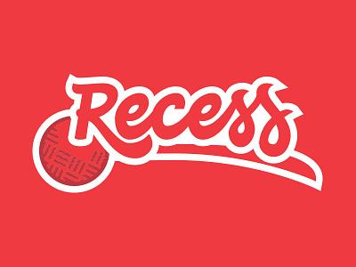 Recess Script and Ball type logo lettering script ball