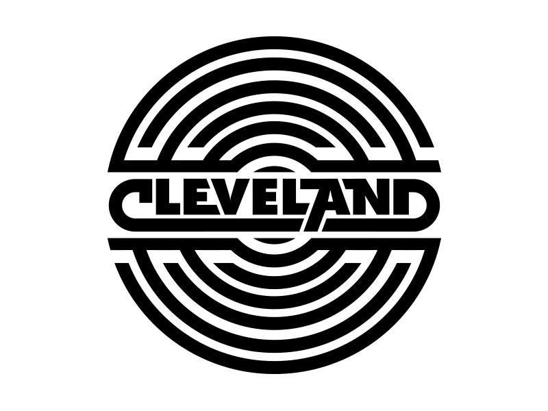 Cleveland Record  record rock and roll type wordmark logo skillshare wip vector cleveland draplin