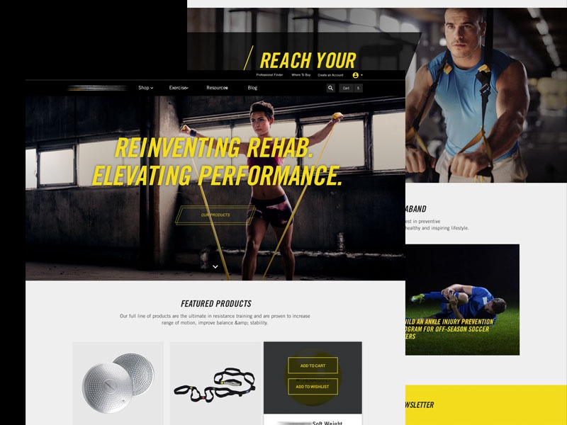 Fitness Product Website web design dark website interactive ecommerce homepage fitness