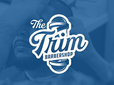 The Trim Barbershop script barbershop graphic branding logo