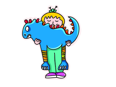 Heavy lifter colours drawing challenge adobe illustrator ipad illustration inspiration cartoon