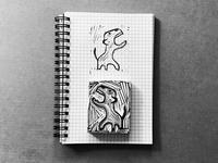 Little friend | stamp
