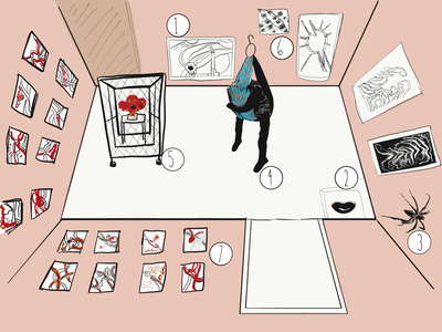 Finding Louise Bourgeois ipad pencil ipad artists review exhibition blog adobe draw inspiration