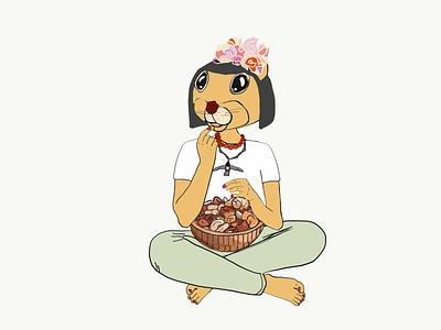 Squirrel art blog cartoon illustration adobe illustrator draw ipad