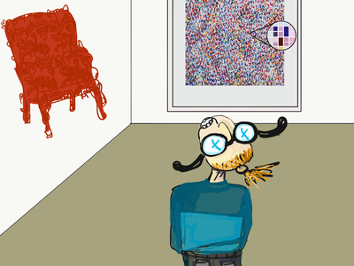 Me admiring prints at the exhibition opinion artists art blog review exhibition cartoon inspiration adobe illustrator draw ipad