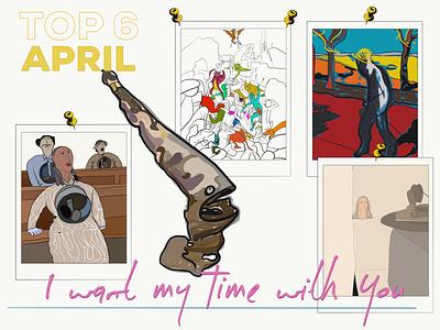 Top 6 April opinion illustration blog art blog exhibition cartoon inspiration ipad adobe illustrator draw