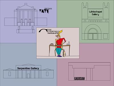Summer School flat design illustration gallery doodles blogger art blog art wacom inspiration