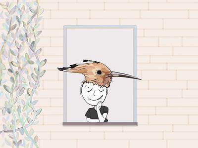New hairstyle pastel colours home digital illustration drawing nature illustration cartoon inspiration adobe illustrator draw ipad