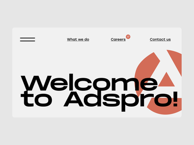 welcome-to-adspro ui landing-page design figma web-design uiux