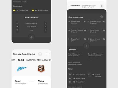 mobile soccer match statistics-app app mobileux mobileui sport logo ui design uiux figma