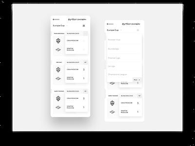 Card_football football app interface bet sports design figma uiux