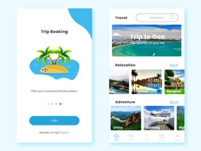 Trip Booking App ux ui