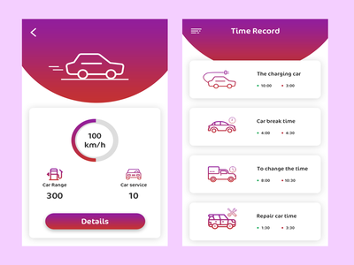 Car Detail App app design