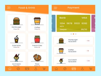 Fast Food Online App app design