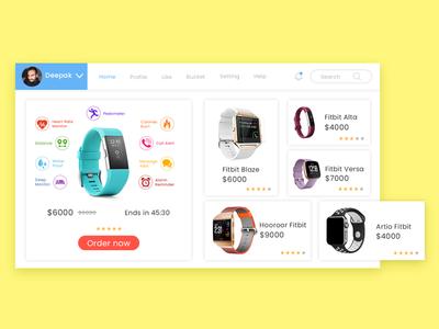 Fitbit Web Layout design web ux ui