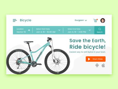 Ride Bicycle Web Layout design web ux ui