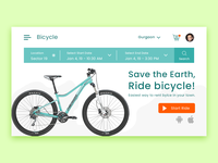 Ride Bicycle Web Layout