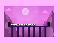 Illustration View For A Train