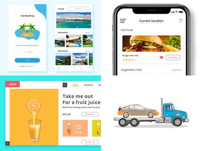 2018 illustration design web app design ux ui