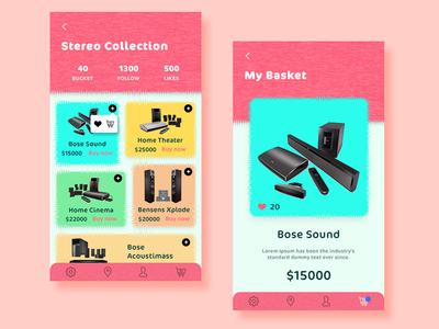 Stereo Collection App branding app design ux ui