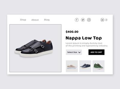 Online Shoes Shopping typography branding design web ux ui