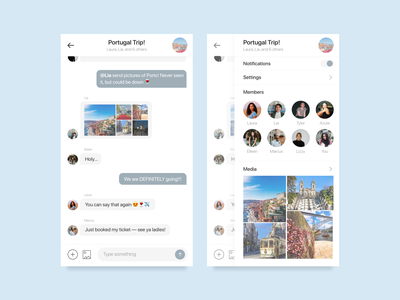 Daily UI 013 / Direct Messaging simple direct message dailyui013 messenger messaging design app user interface minimal daily100 dailyui ui