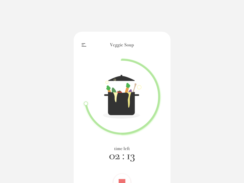 Daily UI 014 / Countdown Timer countdown timer dialyui14 dailyui014 vector design food illustration app user interface minimal daily100 dailyui ui