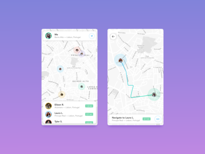 Daily UI 020 / Location Tracker