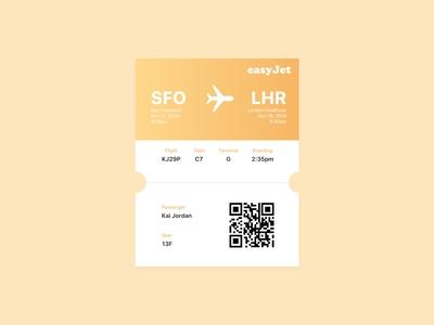 Daily UI 024 / Boarding Pass