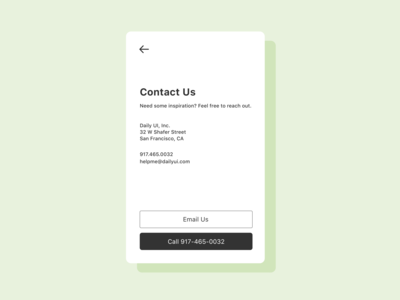 Daily UI 028 / Contact Us