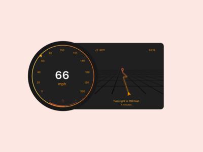 Daily UI 034 / Car Interface