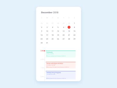 Daily UI 038 / Calendar schedule december dailyui38 dailyui038 calendar design app minimal daily100 user interface ui dailyui