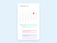 Daily UI 038 / Calendar