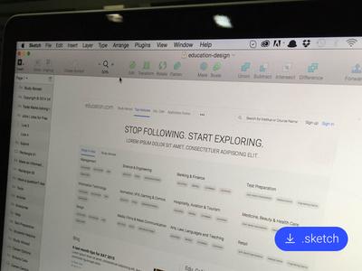 Education Platform Landing Page