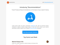 Producthunt Mailer ReDesign