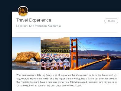 Travel Exp. Modal box travel flatui clean ui website san francisco photo sharing user interface modal minimal