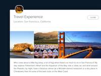 Travel Exp. Modal box