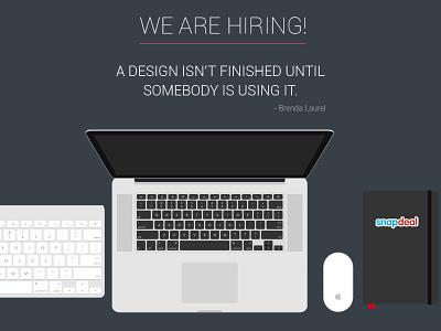 Join Our Team hiring snapdeal design ui ux ui designer web mobile app jobs team
