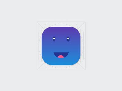 Smiley icon app blue fun smiley flat icon design icon illustrator android lollipop material design android google