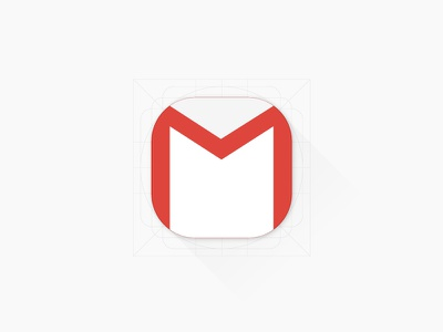 Free Gmail App Icon free freebie ios gmail flat icon design icon illustrator android lollipop material design android google