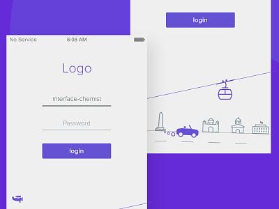 Minimal login screen ios7 landing form mobile input iphone button flat ios minimal app login