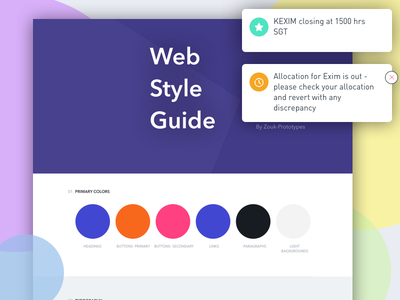 Web Style Guide buttons branding ui guide ui style typography interface colors palette pallete style guide web