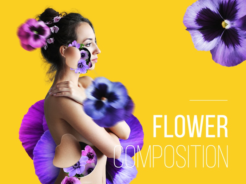 Flower Woman Composition
