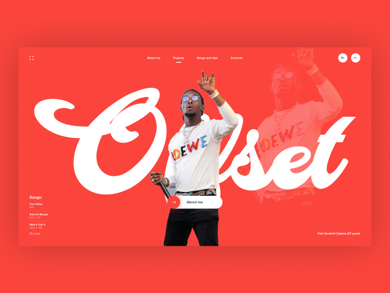 Offset - concept website page home design web main screen site ux ui