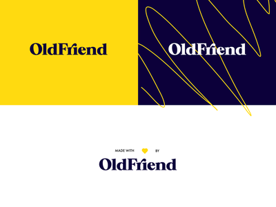 OldFriend re-branding design guidelines logo identity branding studio design agency marketing creative modern typography serif classic