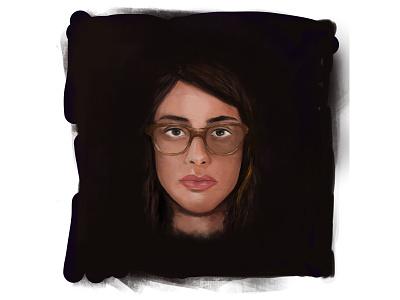 Self Portrait portrait painting sketching portrait digital painting realistic drawing art procreate illustration